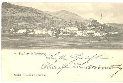 Pozdrav iz Trnovega, okrog 1899 leta