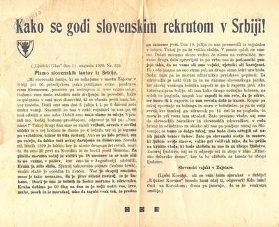 Kako se godi slovenskim rekrutom v Srbiji