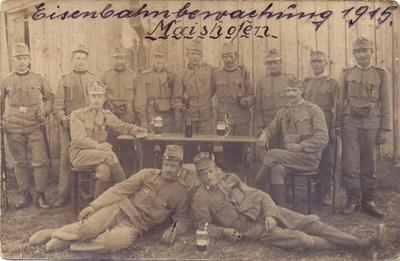 Železniška straža v prvi svetovni vojni