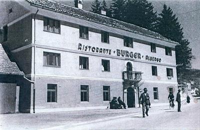 Gostišče Dolenji Burger, v italijanskih časih