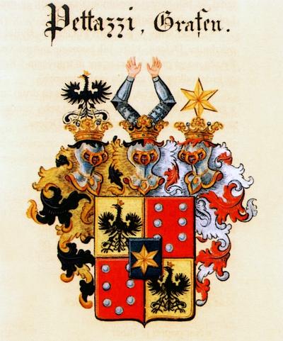 Grb grofov Petačev, zadnjih lastnikov gradu