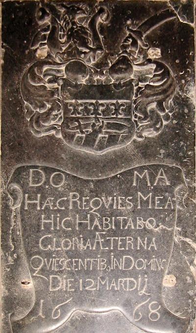 Grb družine Rheiner v senožeški cerkvi