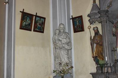 Kip sv. Jožefa s pročelja »Našega doma«