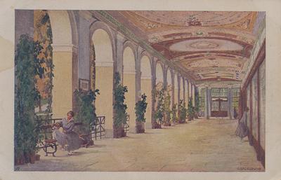 Razglednica: Wandelbahn. Natisnjena ok. 1910.