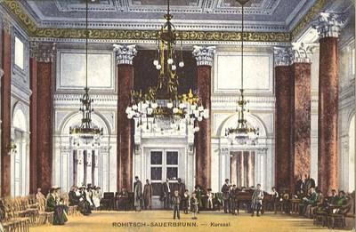 Razglednica: Rohitsch-Sauerbrunn. Kursaal. Natisnjena 1913.