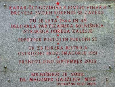 Napis na spomeniku