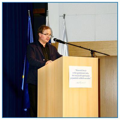 Osrednja proslava ob slovenskem kulturnem prazniku 2016 v Brežicah - dr. Tomaž Toporišič