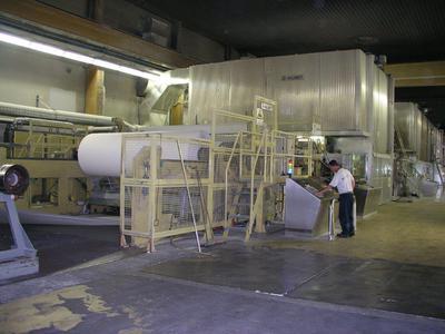 Zaključna skupina papirnega stroja
