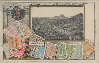 Razglednica: Sauerbrunn. Poslana 1908.