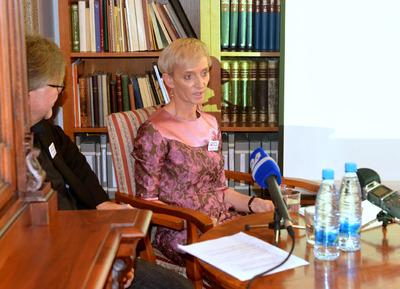 Tiskovna konferenca NUK - mag. Tea Bemkoč
