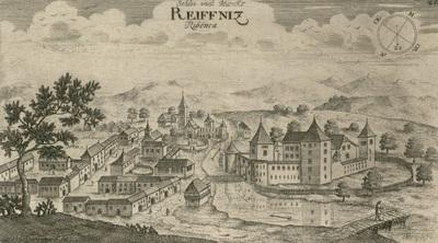 Ribniški trg z gradom