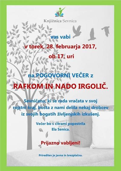 Vabilo - Irgolič