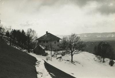 Oba doma v snegu