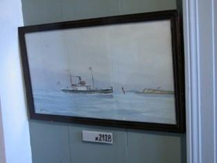 Maleri af Johan Kock 1906. Dampskibet Ærø (gl.)