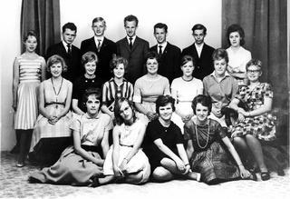 Fotografi i ramme, Sæby Kommuneskole,  Real  b -  1962.