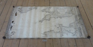 Søkort, Den Engelske Kanal, med Irland, England