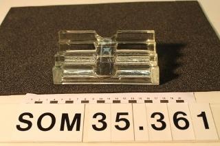Penneholder af glas