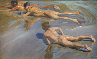 Chicos en la playa