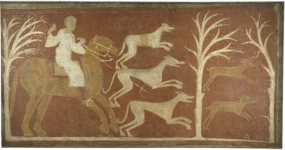 Cacería de liebres. San Baudelio de Casillas de Berlanga