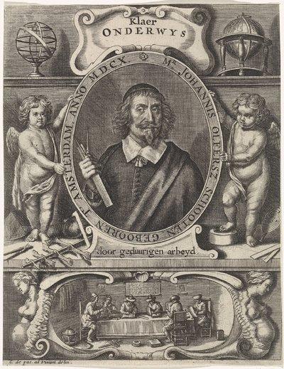 Portret van Johannes Olfersz. Schooten