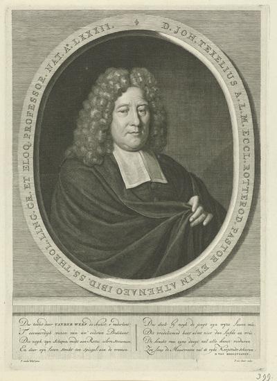 Portret van Johannes Texelius