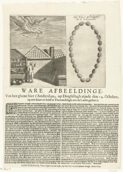Wonderbaarlijke ketting uit de lucht gevallen, 1653