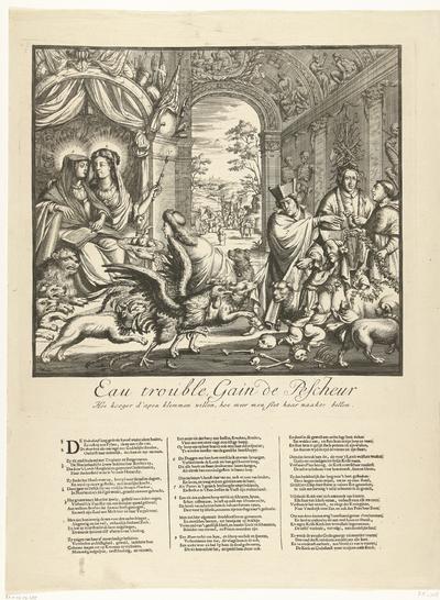 Spotprent op pater Peters en de jezuïeten, 1689