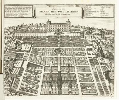 Tuinen van de Villa d'Este te Tivoli, 1726
