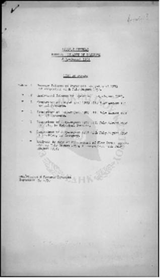 PROGRAM BALANCE OF PAYMENTS - (JULY 1953 - AUGUST 1953)