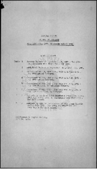 PROGRAM BALANCE OF PAYMENTS - (JULY 1952 - MAY 1953)