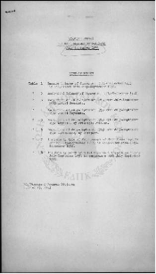PROGRAM BALANCE OF PAYMENTS - (JULY 1953 - SEPTEMBER 1953)