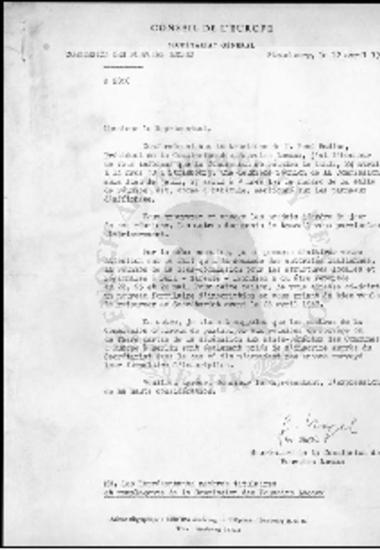 Conseil de l' Europe-Commission Des Pouvoirs Locaux (1967)