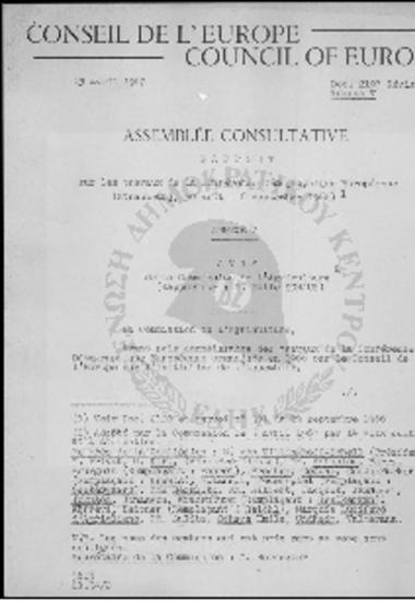 Conseil de l' Europe-Council of Europe-La Conference Demographique Europeenne (30/08-06/09/1966)