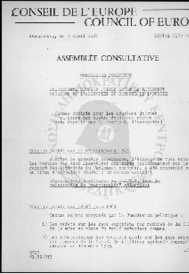 Conseil de l' Europe-Council of Europe-Commission Politique (1967)-Reunion jointe des 17-18 septembre 1963