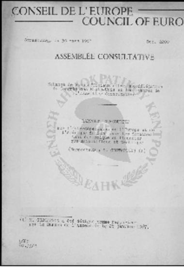 Conseil de l' Europe-Council of Europe-Enhange de vues officieux entre une delegation du Congres des Etats-Unis et les membres de l' Assemblee Consultative (1967)