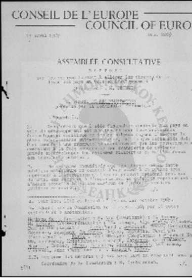Conseil de l' Europe-Council of Europe-Sur les mesures tendant a alleger les charges de la dette des pays en voie de developpement (1967)