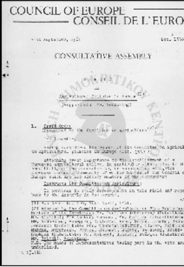 Conseil de l' Europe-Council of Europe-Report on argicultural Policies in Europe (1961)