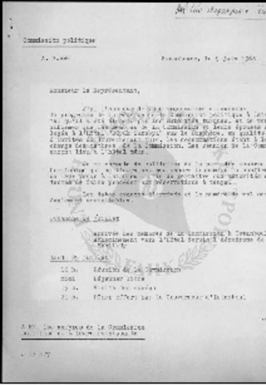 Programme de la reunion d' Istanbul de la Commission Politique de l' Assemblee Consultative du Conseil de l' Europe 25-27 Juillet 1966