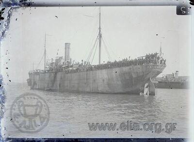 Μικρασιατική εκστρατεία, το ατμόπλοιο