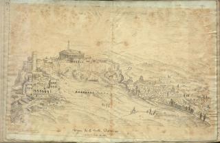 Veue de la ville d' Athene avant le siege de 1687