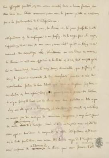 Arthur Gobineau to the editor of [Universel]