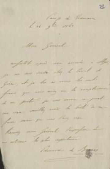 Edouard de Bannes προς Ιωάννη Κωλέττη