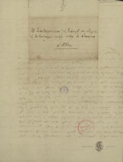 Kallistratos of metropolite Libya to Konstantinos Oikonomos