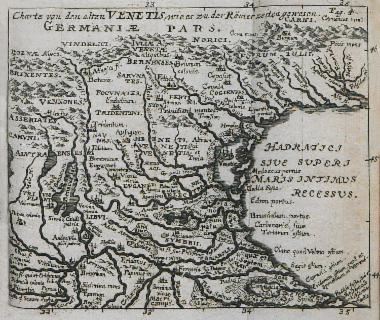 Χάρτης του κόλπου της Βενετίας.