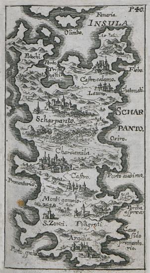 Χάρτης της Καρπάθου.