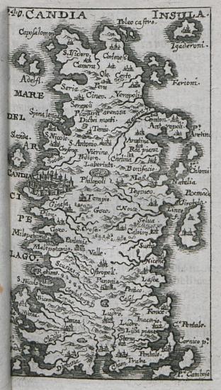 Χάρτης της Κρήτης.