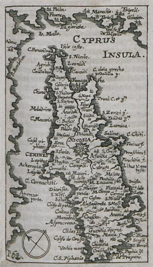 Χάρτης της Κύπρου.