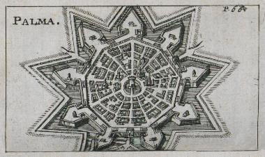 Χάρτης της Παλμανόβα στην Ιταλία.