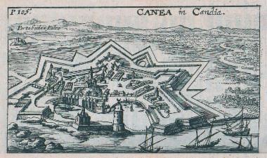 Άποψη των Χανίων με τα ενετικά τείχη.
