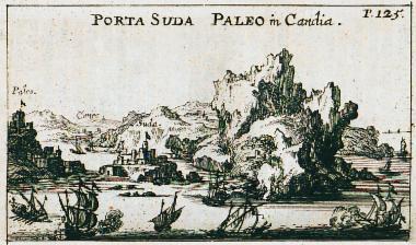 Άποψη του λιμανιού της Σούδας στην Κρήτη.